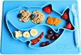 Baby Shark placemat/Plate by Nyloo -The Baby store, for Babies and Toddlers Over 6 Months, Blue, Made Out of FDA Approved Silicone (Blue)