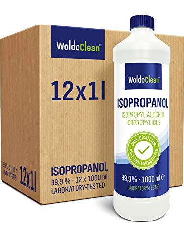 Isopropanol 12x 1 Liter Reinigungsmittel Lösungsmittel 99,9% Reinheit - vielseitiger Reiniger