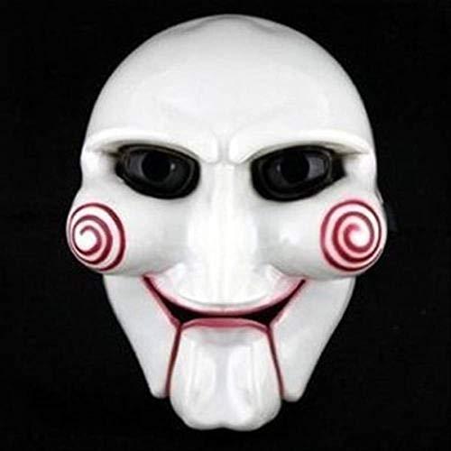 PMWLKJ Moda fiesta de Halloween Cosplay Billy Jigsaw Saw Puppet Mask Masquerade Costume Atrezzo