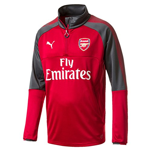 Arsenal 17/18 - Haut Entraînement de Foot 1/4 Zippé - Rouge - Taille M