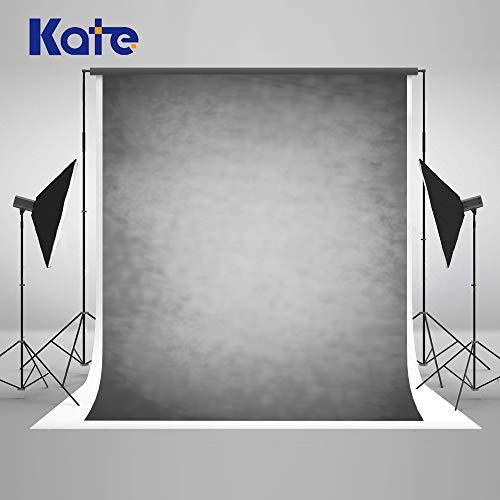 Kate 5×7ft(1.5×2.2m) Rauch Grau Porträt Hintergrund Abstrakte Fotografie Hintergrund Mikrofaser Foto Retro Grauer Hintergrund für Fotografen Stoff Studio Requisiten
