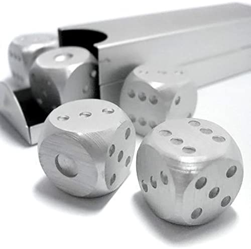 Aluminum Dice 5 in 1 Set voyage Case Deluxe Gift Souvenir by Toys - Board Games
