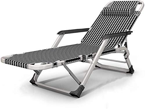 Silla de jardín reclinable, tumbona para el almuerzo, siesta, respaldo, playa, hogar, palanca individual, 15 multifunción