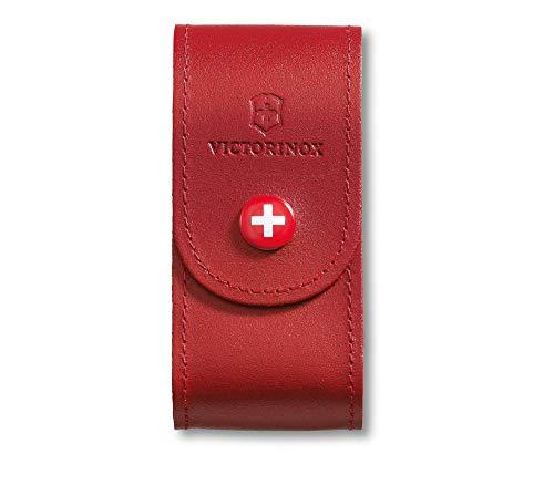 Victorinox - Etui Cuir Rouge Victorinox - pour Couteau Suisse Modeles Swisschamp - Handyman - CyberTool