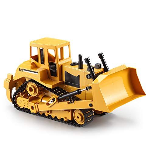 W&HH RC Radlader,1:18 Ferngesteuerte Baufahrzeuge, Professioneller RC-Bagger Mit 7 Kanälen Batteriebetriebener Fernsteuerungs-BAU-Traktor-Metallschaufel