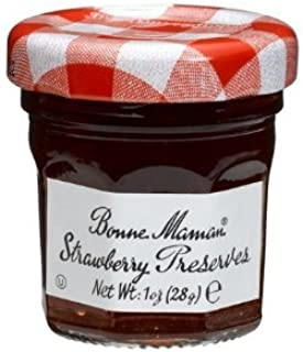 Bonne Maman Strawberry Preserve Mini Jars - 1 Oz X 30 Pcs Kosher