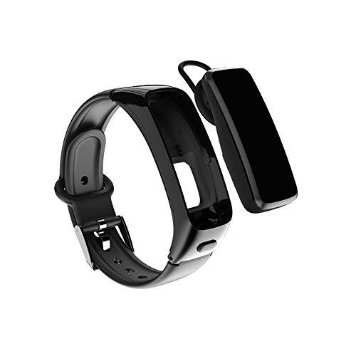 MingXun Rastreador de fitness de alta gama HR, reloj de fitness impermeable IP67, pulsera desmontable, con monitor de frecuencia cardíaca, podómetro, monitor de sueño, rastreador de actividades de sal