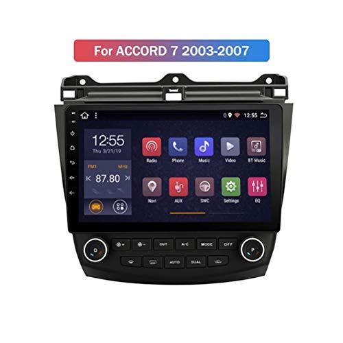 HP CAMP Android 9.1 8 Core Multimedia Player für Honda Accord 7 2003-2007, Supporta la Fotocamera di Backup/Microfono/CarPlay/DSP/Bluetooth 5.0 / SWC/mappe Offline Online,4g WiFi 4g+64g