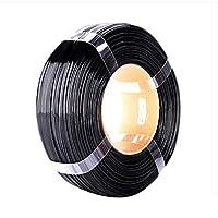 PETGフィラメント3Dプリンター、フィラメント1.75mm、寸法精度+ /-0.05mm、スプール1kg、印刷材料、リールなしのPETGフィラメント(Color:黒)