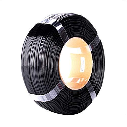 PETG Filament 3D Printer, Filament 1.75mm, Dimension Precision + / - 0.05mm, Spool 1kg, Printing Material, PETG Filament Without Reel(Color:black)