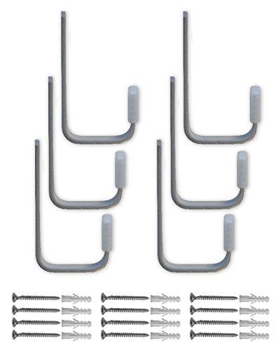 Element System HOOK Biertisch-Haken-Set für Bier-Tisch und -Bank, 85 x 40 mm, 1 Set, weißaluminium, 11360-00000