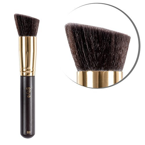 Kontur & Foundation Multi Functional Brush – B8 vegan Mehrzweck hochwertiger professioneller langlebiger synthetische Fasern Make up Pinsel – Perfekt zum einfachen Auftragen von Foundation Makeups