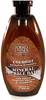 Dead Sea Mineral Bubble Bath Coconut Moisturizes & Nourishes Natural Oils