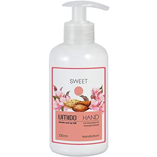 UMIDO Hand-Lotion Spender 250 ml Mandelöl & Mandel-Extrakt | ohne Parabene | Handcreme | Creme | Pflegecreme | Lotion | Hautpflege | Hand-Pflege