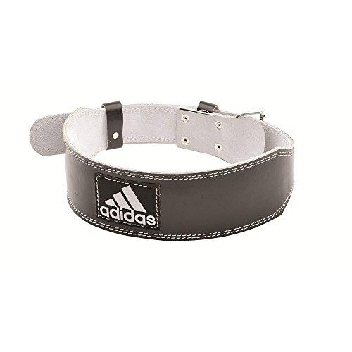 adidas Leather Weightlifting Belt, XX-Large, Black