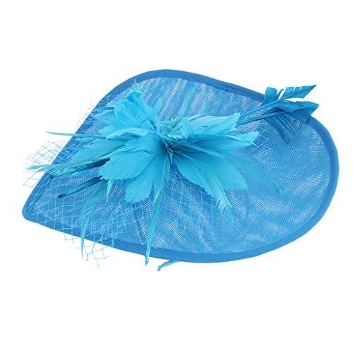 Baoblaze Chapeau de Mariée Gatsby Des Années 1920 pour Femme - Bleu