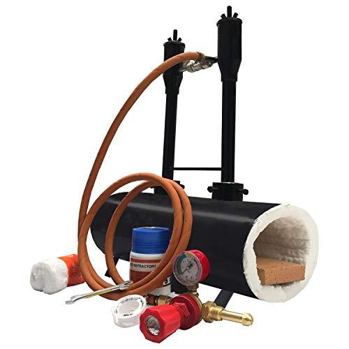 Double Burner Propane Forge Oval Knife Making Blacksmith Gas Forge Farrier Furnace