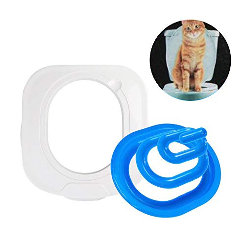 YT-8 Cat Toilet Training Kit Pets Potty Urinal Litter Tray Easy to Clean