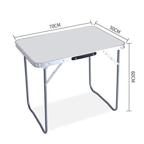 MENG 50x70cm draagbare multifunctionele campingtafel klaptafel en stoel Duurzaam en eenvoudig ontwerp bespaart ruimte voor kantoor, outdoor, thuis Without stools wit