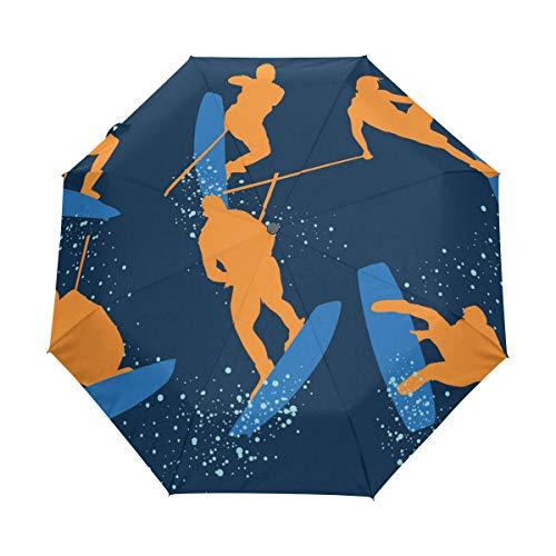 DEZIRO Wakeboarding drievoudig Outdoor?Paraplu?auto open Winddicht Waterdicht