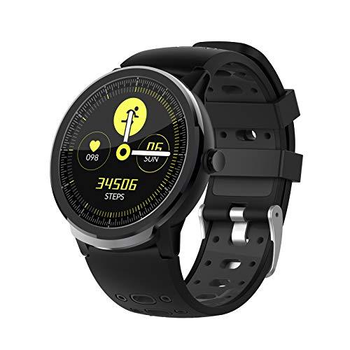 Relojes inteligentes para hombres y mujeres, relojes Bluetooth con pantalla táctil de 1.3 ', IP67 a prueba de agua, reloj con monitor de sueño, reloj inteligente para teléfonos Android y teléfonos i