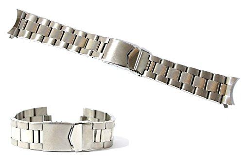 Cinturino orologio oyster acciaio pieno ansa curva 20mm bracciale...