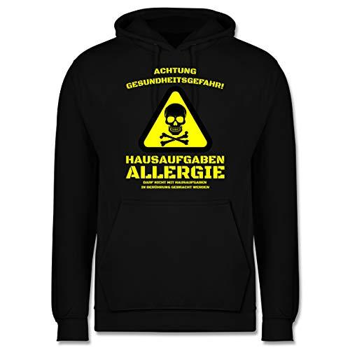 Shirtracer Statement - Hausaufgaben Allergie - XS - Schwarz - Hoodie Statement - JH001 - Herren Hoodie und Kapuzenpullover für Männer