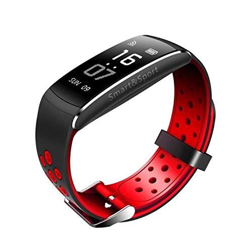 HETP Pulsera de Actividad, Reloj Inteligente con Pulsómetro Impermeable Pulsera Deportivo Actividad Monitor de Frecuencia Cardiáco Ritmo Reloj Fitness Podómetro,Sueño para Android y iOS (Negro)