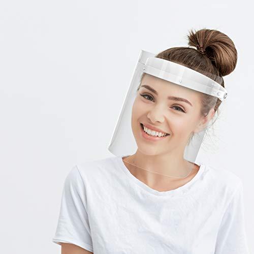 HARD Ersatzfolien 10 Stück - Transparent, Ersatzvisiere für Aufklappbares Face Shield, 10 x Wechselvisier Folien Anti-Beschlag