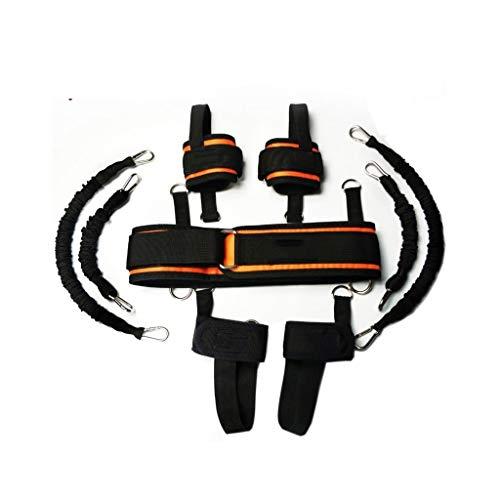 QB Tracción Cuerda Fitness Formación, Elástica Cuerda, Boxeo Taekwondo, Cuerda Resistencia Capacitación Esgrima, Cuerda Bouncing Hebilla Elástica Tire Fitness Conjunto Fitness (Color : 130 pounds)