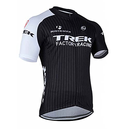 Short Sleeve Cycling Jersey for Men,3 Rear Pockets MTB Bicycle Clothing