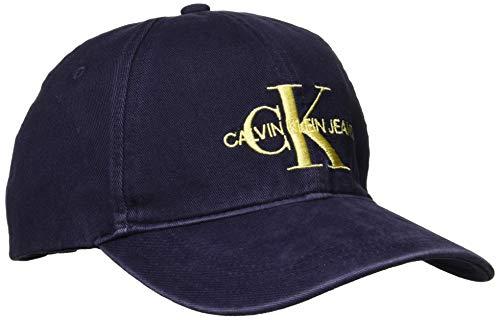 Calvin Klein Jeans Herren J Monogram M Baseball Cap, Blau (Peacoat 450), One Size (Herstellergröße: OS)