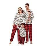 Alueeu Pijamas Navidad para Familias Top+Pantalones Invierno Otoño Ropa de Dormir Chándal Homewear Pijamas Navidenos Amigas riou