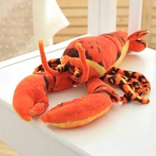 Simulación de langosta de peluche de juguete muñeca de peluche animal marino pez langosta almohada suave chico juguetes para niños regalos 45Cm