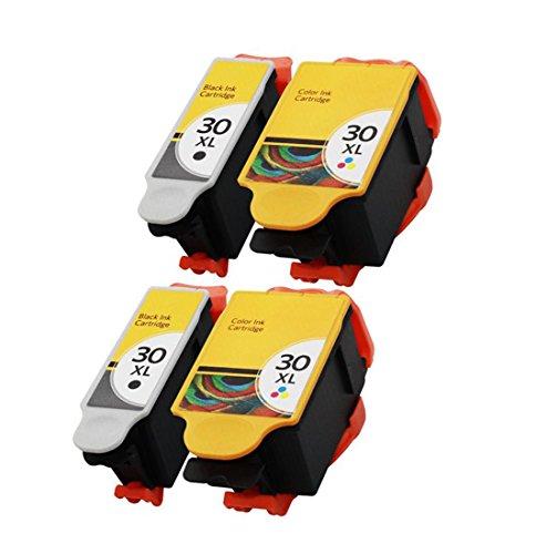 ESTON 4 Pack Printer Ink Cartridge for 30XL Kodak Hero 3.1 5.1 ESP C310 C510 2150 2170