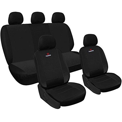 WOLTU AS7315sz Set Completo di Coprisedili Auto Seat Cover Macchina Universali Protezione per Sedile di Poliestere Classici Nero