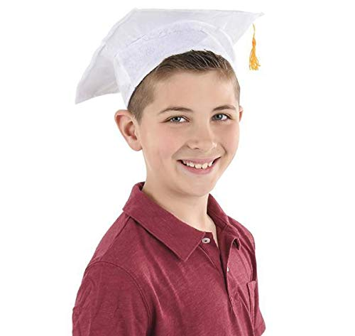 New DollarItemDirect Child's White Graduation Cap 1.3333, Case of 144