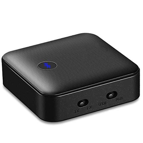 XJJZS Receptor Bluetooth 5.0 para Auriculares de TV, Adaptador de Audio Bluetooth aptX HD CSR8675 3.5mm