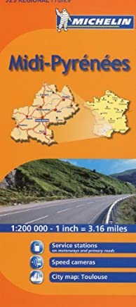 Michelin Map France: Midi Pyrenees MH525 (Maps/Regional (Michelin)) (English and French Edition) by Michelin(2010-01-31)