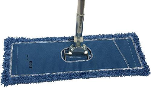 48' Microfiber Dust Mop Kit : (1) Premium Blue Microfiber Dust Mop, (1) Dust Mop Frame & (1) Ergonomic Dust Mop Handle