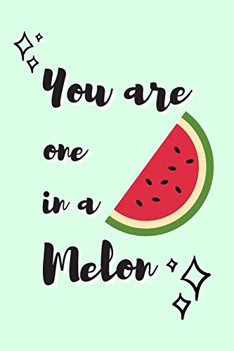 You Are One In a Melon: Watermelon Journal Cute Quote Design Fruit Notebook