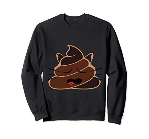 Caca Emoji Gato Dormido Emoji Siesta Pijama Moda Emoticon Sudadera