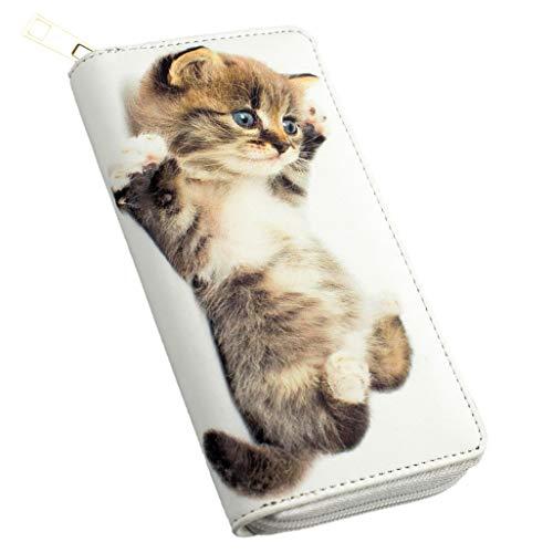 art decor Geldbörse Katzen Baby, Reißverschluss, Damen/Kinder Portemonnaie