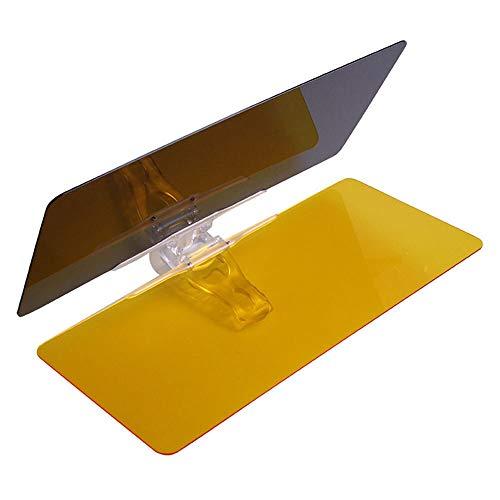 XIOSOIAHOU Día Noche Coche Sun Visor HD Ajustable Coche Anti-Glass Glass Windshield Dazzling 2 en 1 PC + ABS Coche de automóviles Plegable Parasol