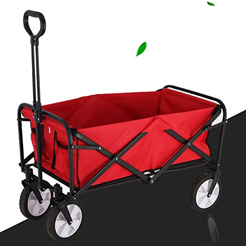 Wmeat-P Garden Trolley Foldaway,Truck Utility Transport Trailer With Pull Handle Suitable Camping Trolley Dump Truck for All Terrain
