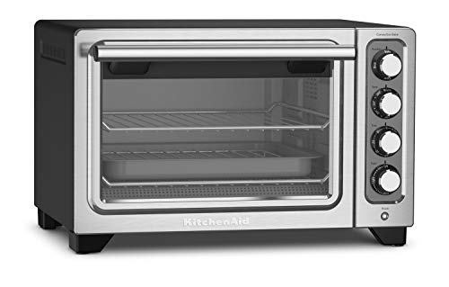 KitchenAid KCO253BM 12-Inch Compact Convection Countertop Oven - Black Matte (Renewed)