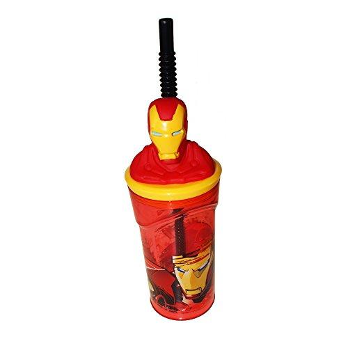 Boyz Toys St395 Figurine 3D gobelets – Iron Man, Rouge