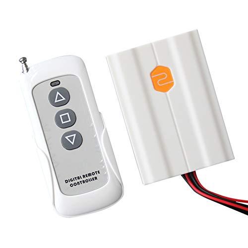 QBLDX Actuador Lineal Eléctrico 24V 6000N / 60KG, Carga Alta 50/100/150/200/250/300/350/400/450/500mm Carrera Opcional Aplicar para RV Coche Puertas Y Ventanas(Size:Control Remoto,Color:24V)