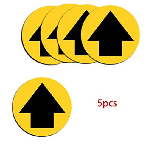 5 pezzi Covid-19 adesivi, segnale di sicurezza per mantenere la distanza di 6 piedi As see the picture E