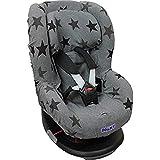 Dooky Grey Stars housse de siège pour enfant, ajustement universel, adaptée à de nombreux modèles populaires de la tranche...